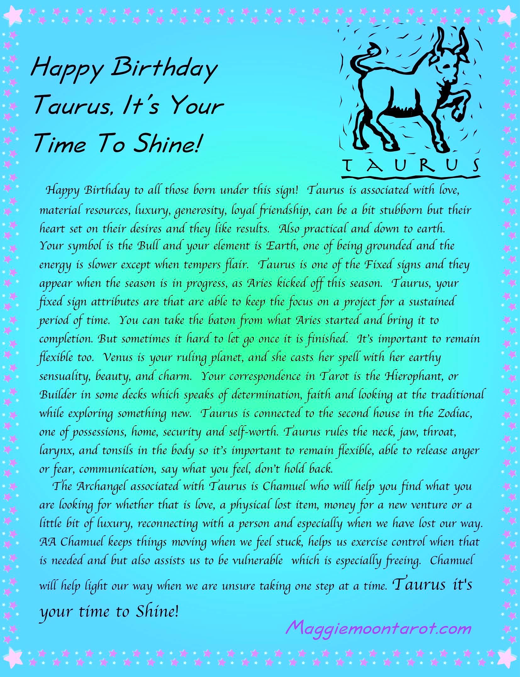 Happy Birthday Taurus