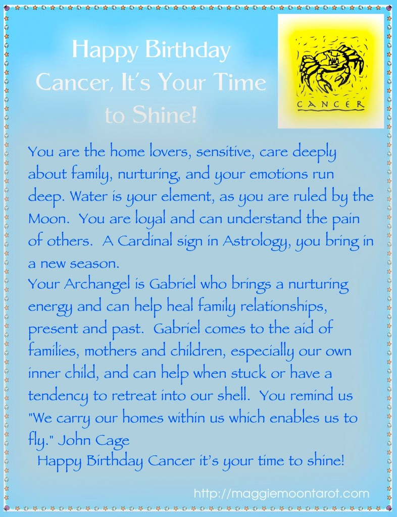 Happy Birthday Cancer